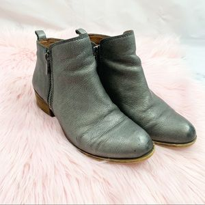 Lucky Pewter Basel Ankle Booties 7.5M